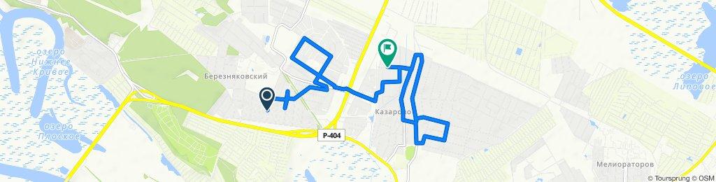 От улица Механизаторов 27, Тюмень до 2-й Мостовой переулок 3, Тюмень