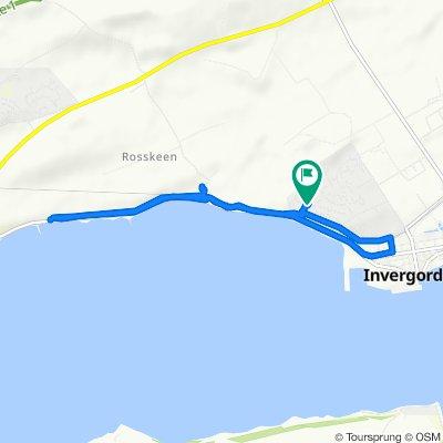 Restful route in Invergordon