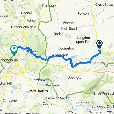60 Hopkins Heath, Telford to Sydney Avenue, Shrewsbury