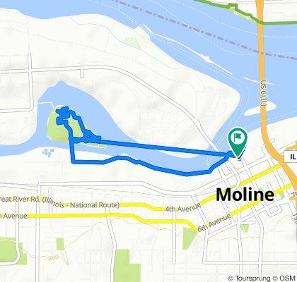 Steady ride in Moline