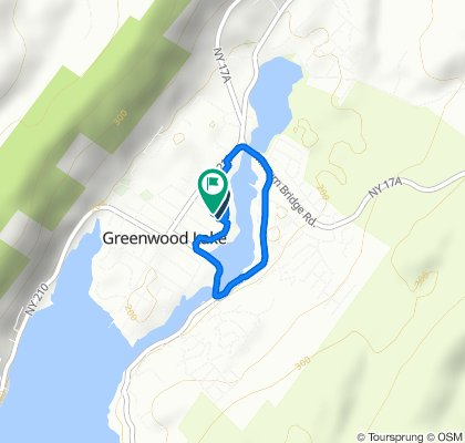 Moderate route in Greenwood Lake