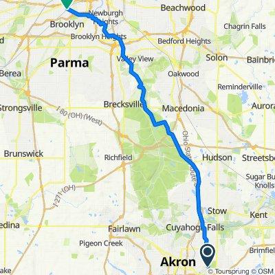 455–499 Sumatra Ave, Akron to 7403 Denison Ave, Cleveland