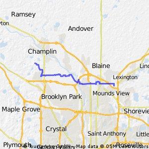 Elm Creek Park Reserve to Medtronic MV Campus