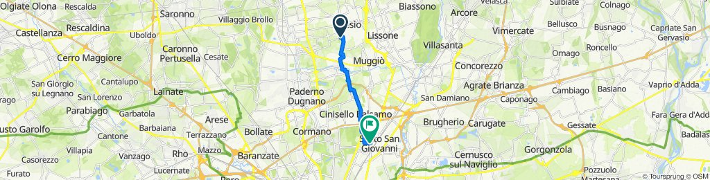 Da Via Ignazio Silone 7, Desio a Via Giuseppe Rovani 78, Sesto San Giovanni