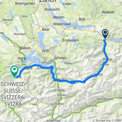 1. Etappe: Ziegelbrücke - Sarnen