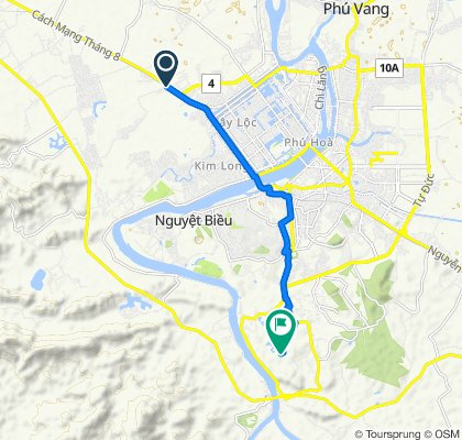 Cycling route from Culture Pham Travel to Abandoned Water Park Hue