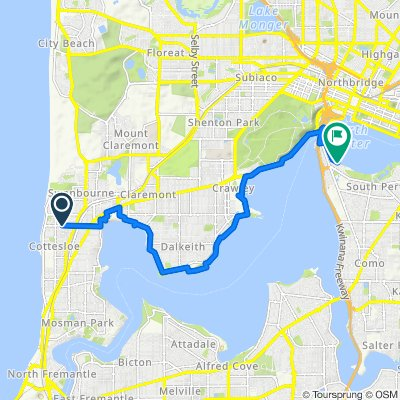 Relaxed route in South Perth