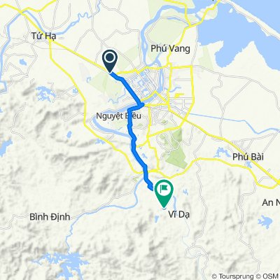 Cycling route from Culture Pham Travel to Gia Long Tomb