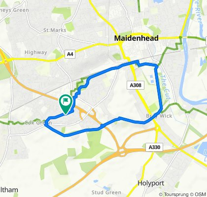 Slow ride in Maidenhead