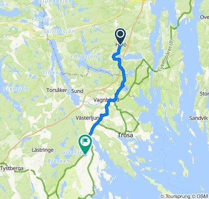 Hölö till Bergs Gård: Gårdscafé & butik, Mountainbike, Boende och Relax