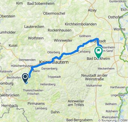 Ab in die Palz über den Barbarossa-Radweg