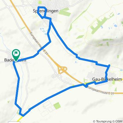 Gerade Fahrt in Badenheim
