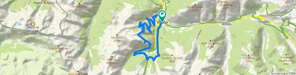 Mountain Bike. Val d'Aran - Pyrenees: Pomarola: Vielha   Casau   Pomarola   Sarrahèra   Vielha