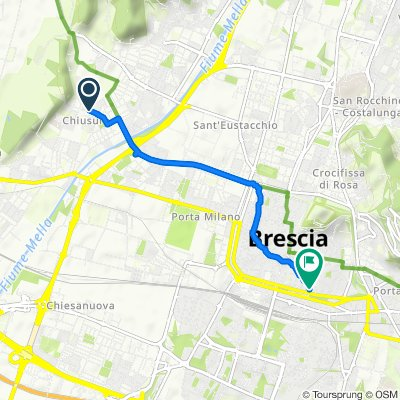 Relaxed route in Brescia