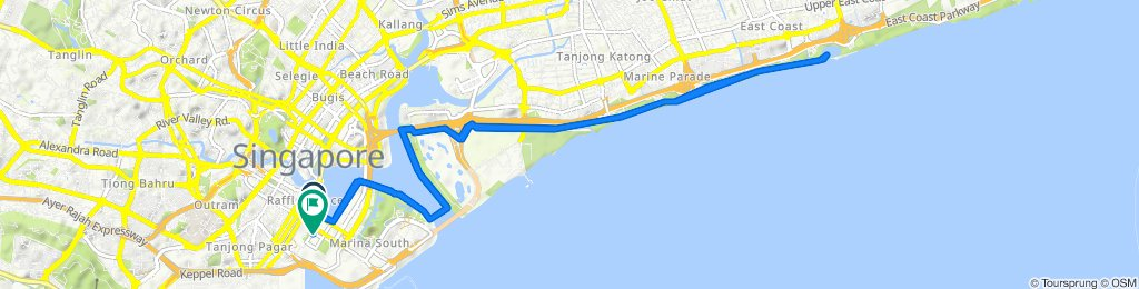 High-speed route in Marina