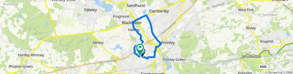 Mayfield Road, Farnborough to 65 Caswell Close, Farnborough