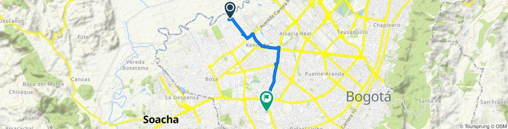 De KR 99A - CL 26 Sur, Bogotá a Diagonal 51b Sur 5709, Bogotá