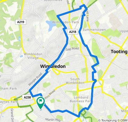 wimbledon bike route