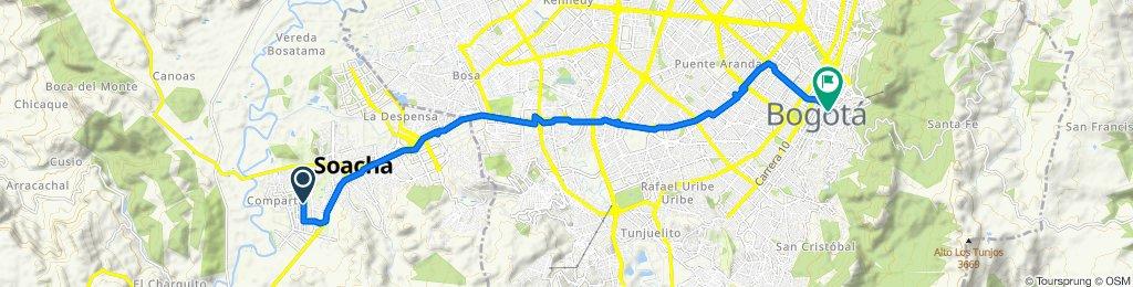 De Calle 15 Sur 12-79, Soacha a Calle 12 Bis 4-98, Bogotá