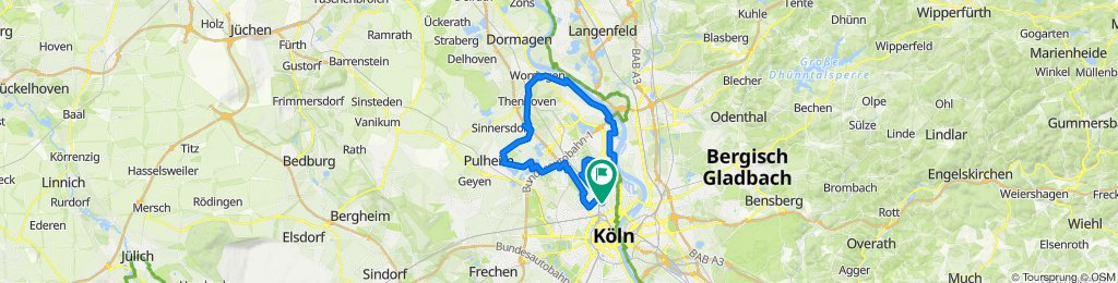 Entspannende Route in Köln