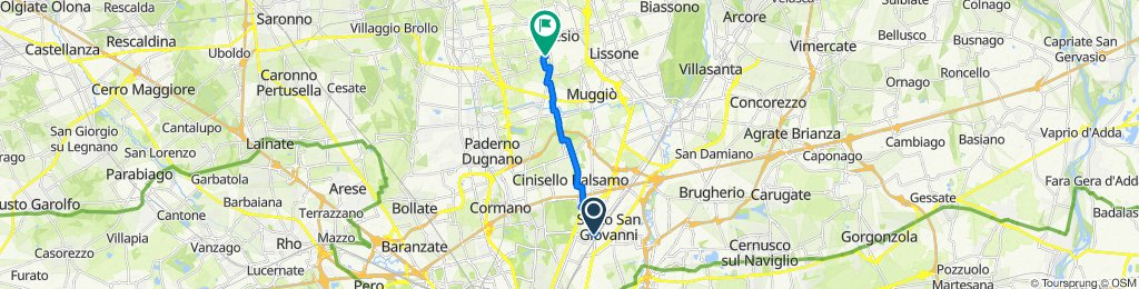 Da Via Ernesto Breda 35, Sesto San Giovanni a Via Ignazio Silone 7, Desio