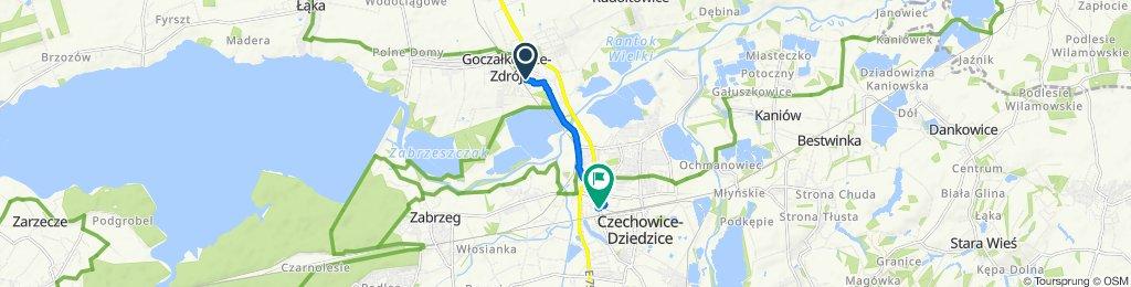 Umiarkowana trasa w Czechowice-Dziedzice