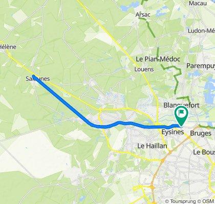 De Rue de Langlet 44, Eysines à Rue de Langlet 46, Eysines
