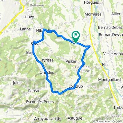 De Chemin du Bois 1, Saint-Martin à Route d'Hibarette 9, Saint-Martin