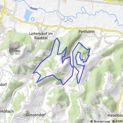 Mountainbikestrecke Leitersdorf - Schloss Pertlstein