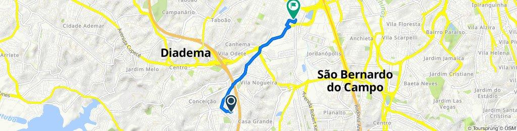 De Rua Cássio 208 a Rua Pacaembú 685