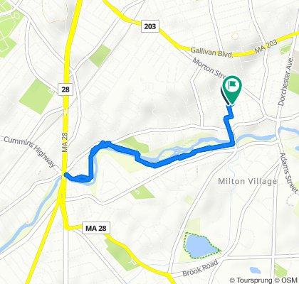 Moderate route in Boston