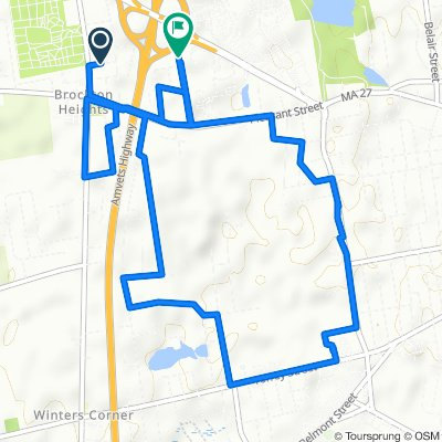24 Bower Ave, Brockton to 116 Keene St, Brockton