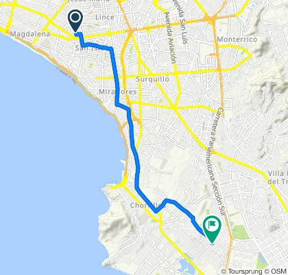 De Calle Thomas Alva Edison 205, San Isidro a Avenida San Juan 570, Chorrillos