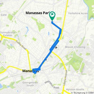 Restful route in Manassas Park