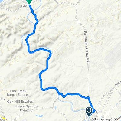 1281 Gruene Rd, New Braunfels to 1435 Sattler Rd, New Braunfels