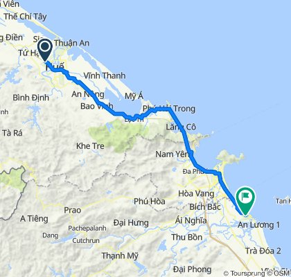 Cycling route from Culture Pham Travel to Tra Que Herb Village