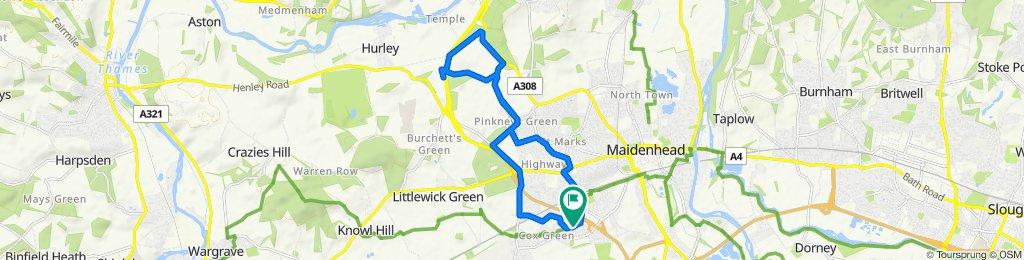5 Ashbourne Grove, Maidenhead to Long Cottage, Cox Green Lane, Maidenhead