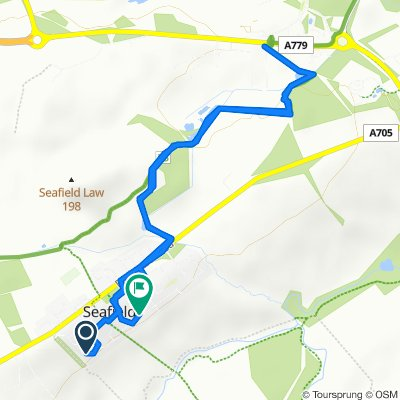 Route to Almond View 33, Seafield