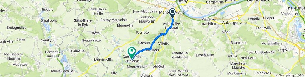Restful route in Mantes-la-Ville