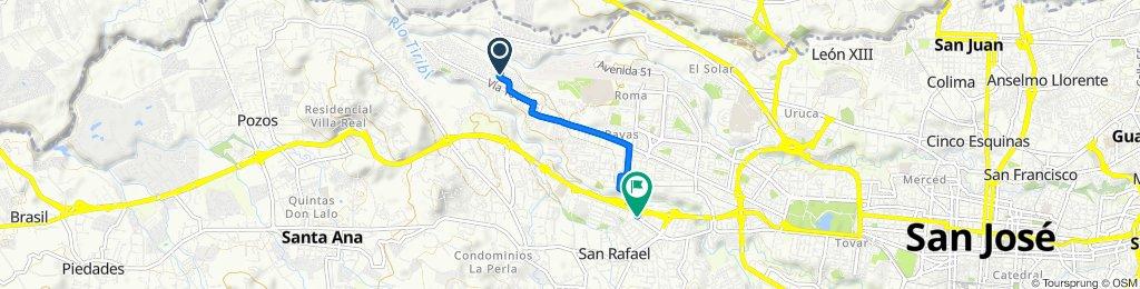 De Calle 162B, San José a Avenida Central,San Rafael parqueo