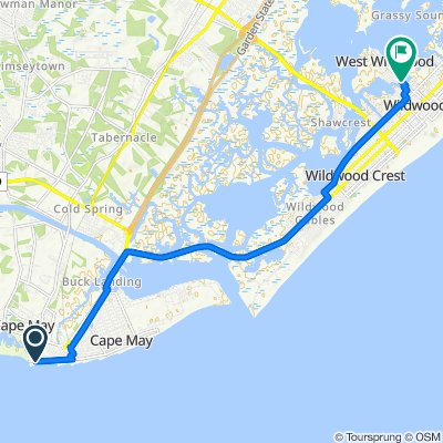 211–213 Beach Ave, Cape May to 500 W Glenwood Ave, West Wildwood