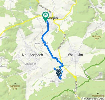 Zur Klingelsmühle 4, Wehrheim nach Bahnhofstraße 30, Usingen