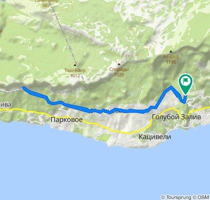 Расслабленный маршрут в Ялта