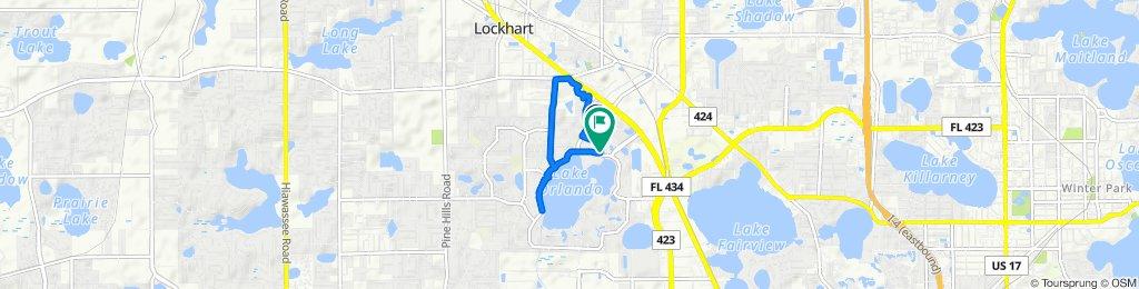 5185 Cinderlane Pkwy, Orlando to 3909 N Lake Orlando Pkwy, Orlando