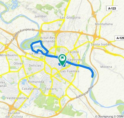 Restful route in Zaragoza