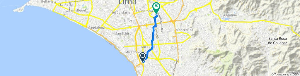 De Avenida República de Panamá 6588, Barranco a Jirón Rio Piura 415, Cercado de Lima