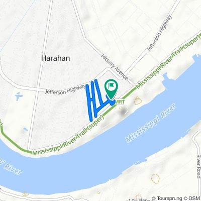 15 Pecan Ave, Harahan to 25 Bailey St, Harahan