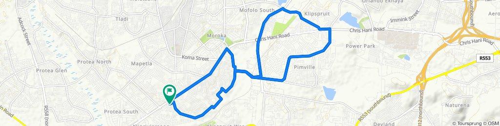 20 Fundudzi Street, Soweto to 24 Fundudzi Street, Soweto