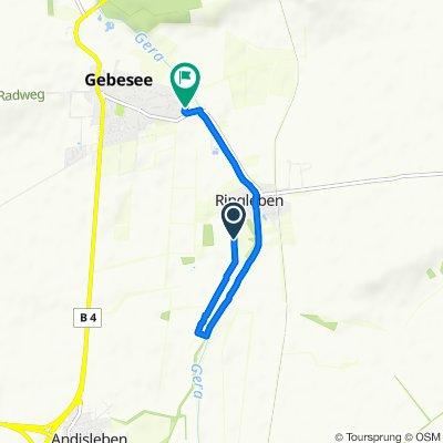 Gemütliche Route in Gebesee