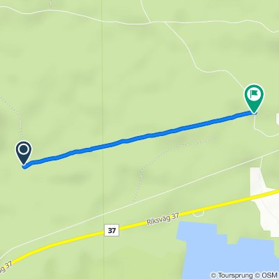 Route to Flybo 25, Åseda